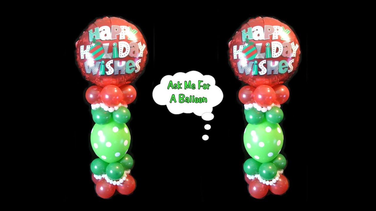 Holiday christmas balloon centerpiece decoration
