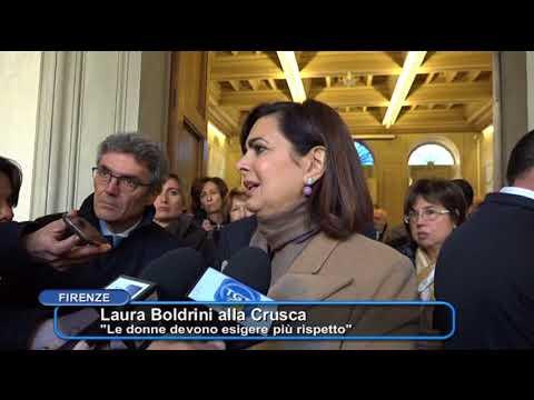 Laura Boldrini all'Accademia della Crusca