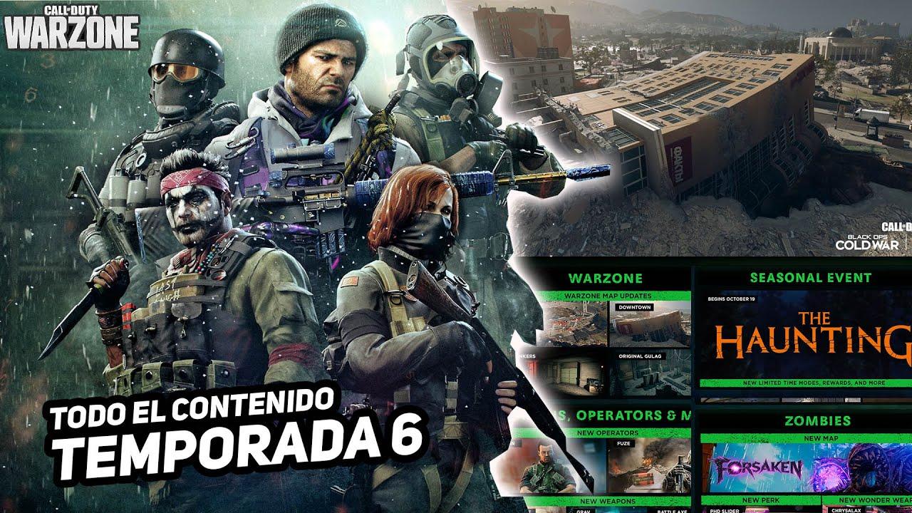 Download HOJA de RUTA TEMPORADA 6  WARZONE: Evento de HALLOWEEN, ARMAS, OPERADORES, BUNKERS y más - Alka593