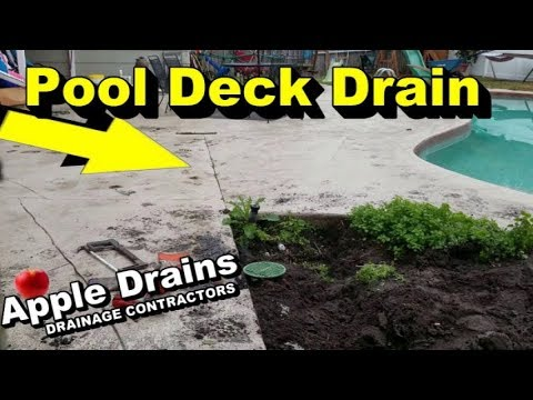 Pool Deck, Drain Pipe, How To Install - YouTube