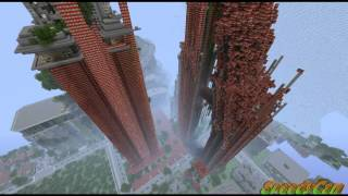 MineCraft Hunger Games Tnt Explosion