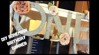 DIY BOHEIMIAN WOODLAND BIRTHDAY BANNER | DECEMBER | VLOGMAS DAY 6
