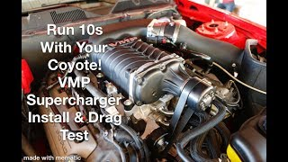 Coyote Mustang Runs Easy 10s and Smashes Hellcats and Vettes - VMP Supercharger Install