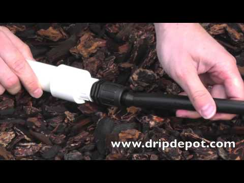 How To Attach Drip Irrigation Tubing Directly To PVC Pipe