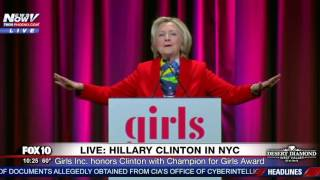 RARE APPEARANCE: Hillary Clinton Speaks After Receiving Girls Inc.