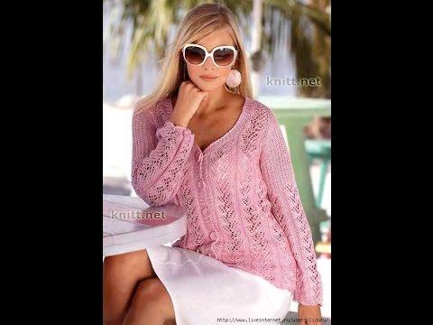летняя кофта из хлопка спицами 2019 Summer Sweatshirt With Cotton Knitting Needles