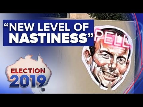 Insulting posters of Tony Abbott plastered across his electorate | Nine News Australia