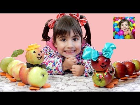 ✿ДЕТСКИЕ ПОДЕЛКИ ОСЕНЬЮ или 🍎Что можно Сделать из ЯБЛОК? How To Make A Caterpillar Of The Apples?