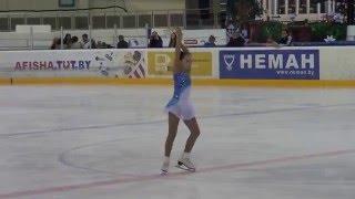 Жихар Ксения (первый год обучения), Минск-Арена 29.04.2016, 6 место