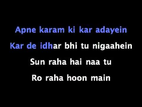 Sun Raha Hai Na Tu lyricskaraoke