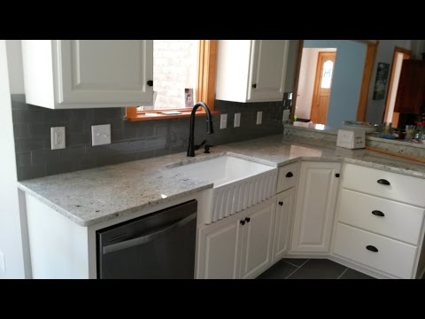 Colonial White Granite Countertops 3 X 6 Smoke Gray Glass