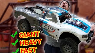 GIANT gas rc car 1st BASHING!