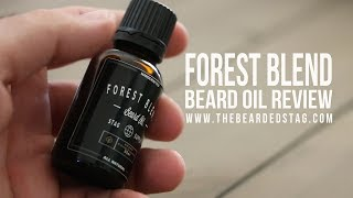 Beard Oil Review Forest Blend - Surprisingly light weight beard oil and fresh scent.