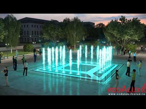 Визуализация фонтана на площади в г. Советская гавань