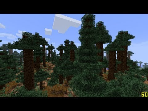 Minecraft 1.7 Mega Taiga Seed Redwood Forest! Top Seeds Episode #2