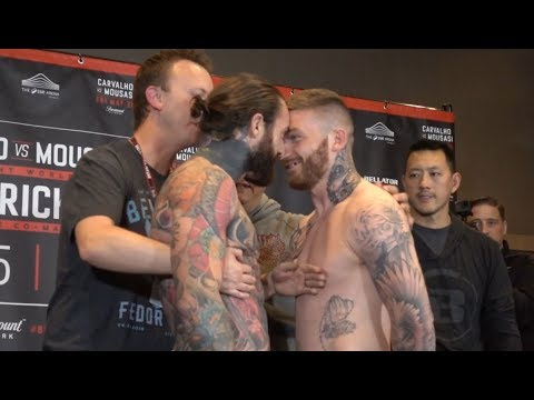 INTENSE Aaron Chalmers and Ash Griffiths Staredown Bellator 200