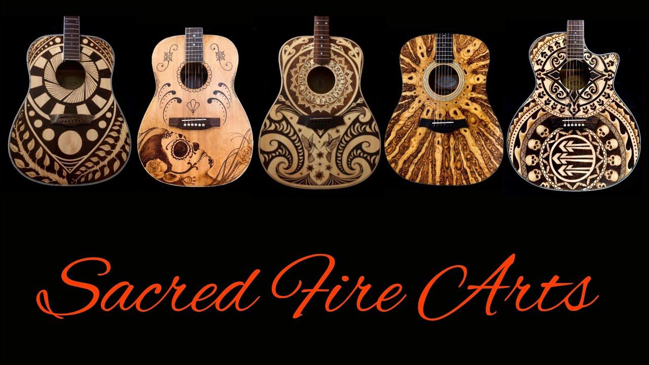 Guitar Pyrography Woodburning Custom Art On Guitars Youtube