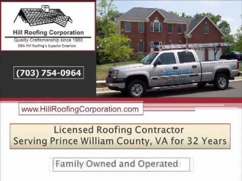 Roofers Prince William County-Hill Roofing-703-754-0964