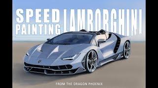 Epic Speed Paintings: Lamborghini Centenario Roadster (Digital Timelapse)