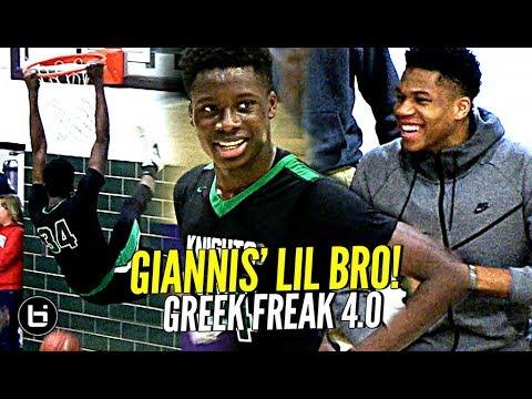 Giannis Watches His Lil Bro GO OFF!! Greek Freak 4.0?! Alex Antetokounmpo Highlights!