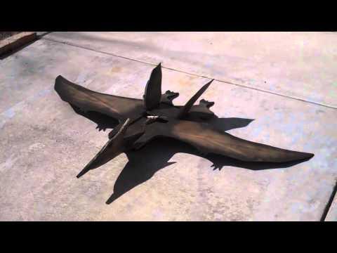scratchbuild rc pterodactyl    walk around