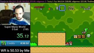 [0:49.01] SMW Credits Warp Former World Record