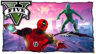 GTA 5 МОДЫ: Зелёный Гоблин VS Дэдпула в Костюме Железного Человека! Видео Игра ГТА 5 mods Обзор Мода