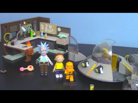 "McFarlane Toys' Rick & Morty ""Garage and Spaceship Construction Kit"" Review"