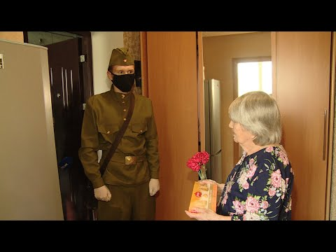 Волгоградские волонтеры поздравляют ветеранов с Днем Победы