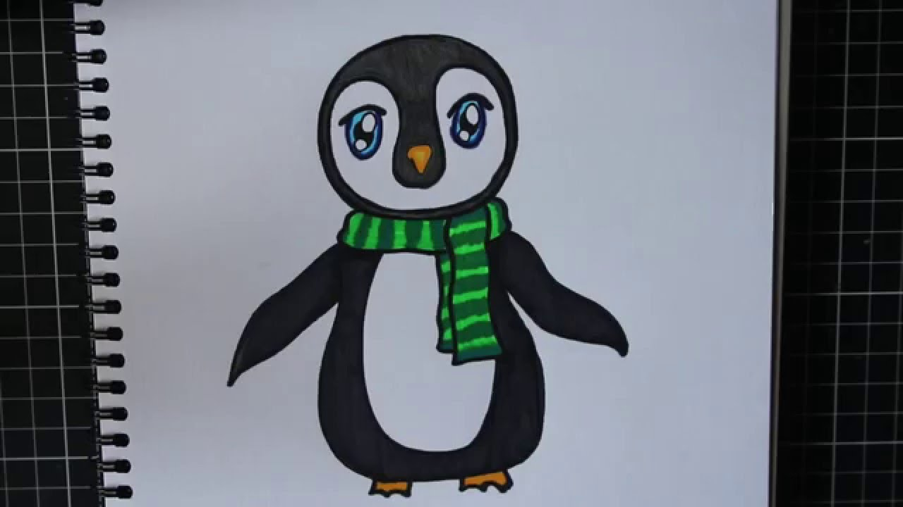 Draw A Cute Penguin With Sharpies