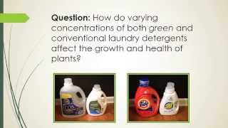 The Effects of Detergents on Plants
