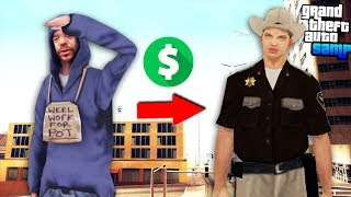 От Бомжа до Генерала Полиции на Arizona RP! - Путь Лидера GTA SAMP #1