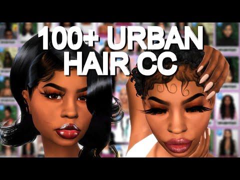 100+-urban-female-hair-cc-folder-download- -part-2- -the-sims-4