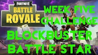 Fortnite Battle Royale | Season 4 Week 5 | Blockbuster Secret Battle Star Location Guide