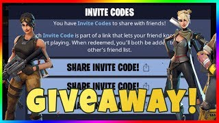FORTNITE MOBILE INVITE CODE GIVEAWAY! LET'S PLAY FORTNITE BATTLE ROYALE WITH SUBS!