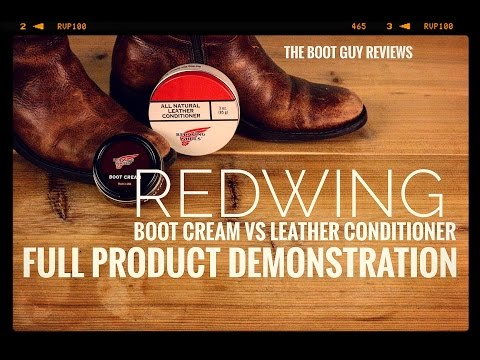 REDWING BOOT CREAM VS ALL NATURAL LEATHER CONDITIONER [ The Boot Guy Reviews ]