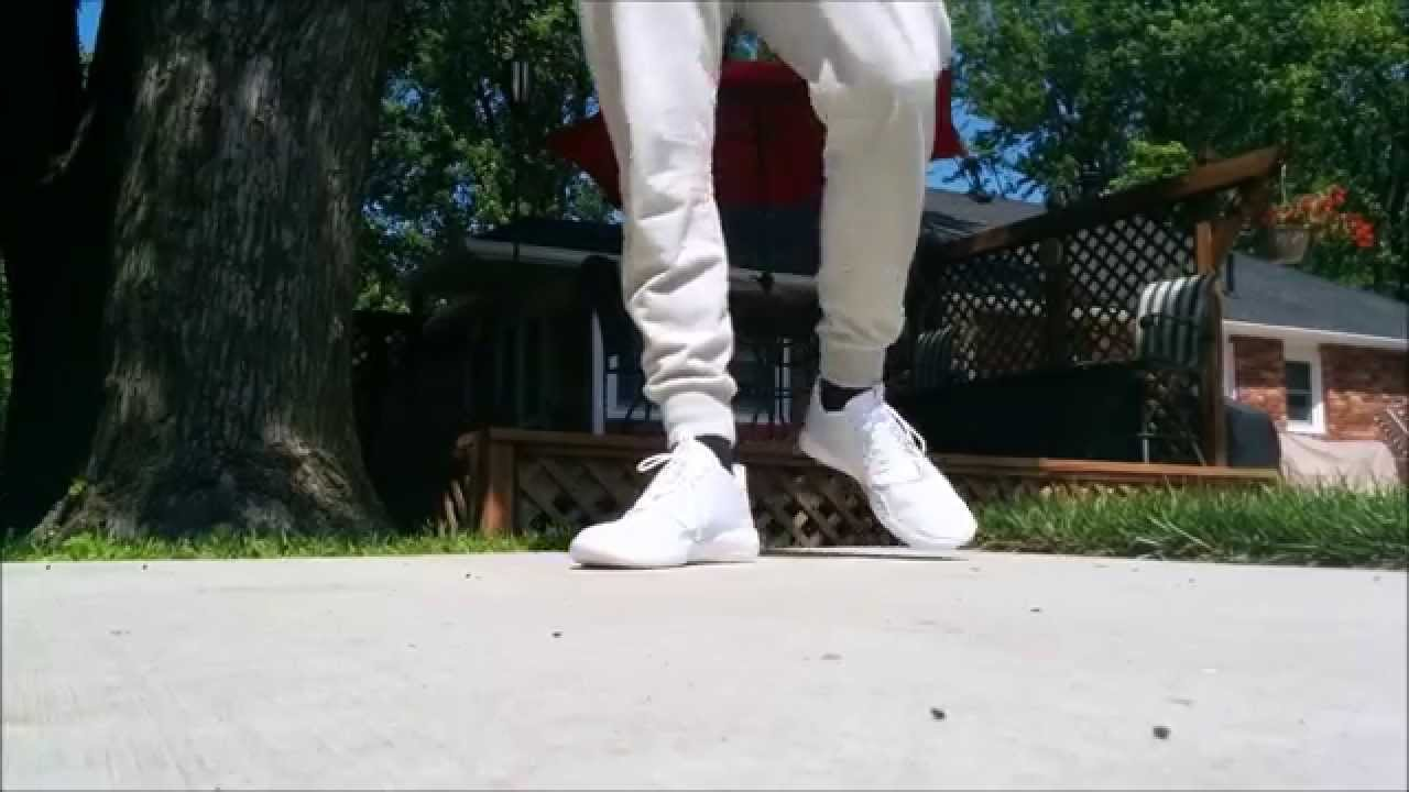 save off a5e1c dd662 Jordan Eclipse (white) - On Foot - YouTube