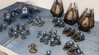 Space Marines vs Orks, 2000 point Warhammer 40k battle report