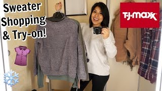 Come Shop With Me: Sweaters at TJMAXX!