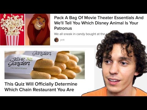 The Absurdity of BuzzFeed Quizzes