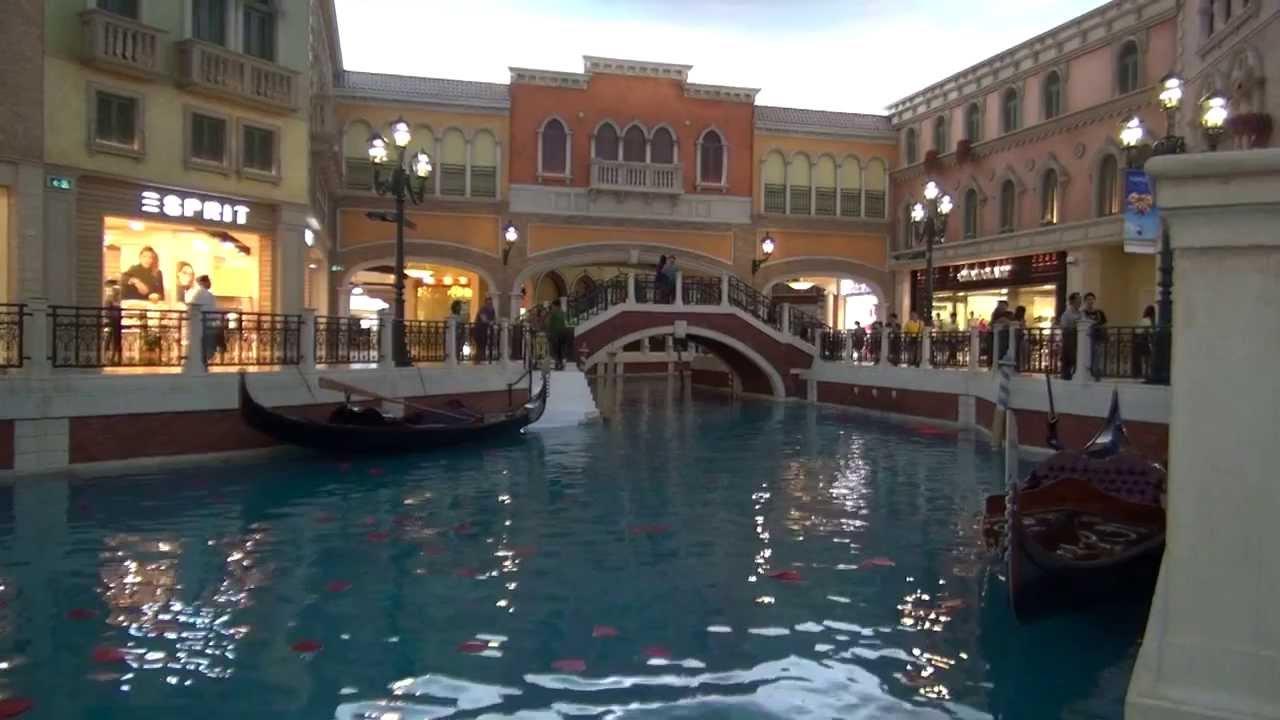 Gondola ride the venetian macau youtube altavistaventures Choice Image