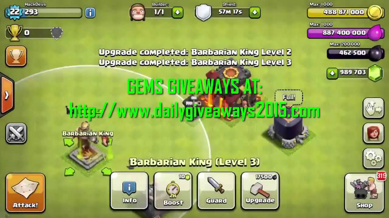Clash Clans Free Gems Giveaway