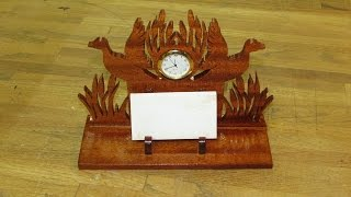 Scrap To Craft /business Card Holder Clock