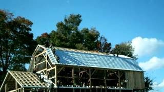 Amish Barn Raising Time Lapse in two minutes