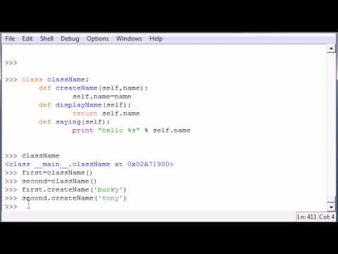 Python Programming Tutorial - 33 - Classes and Self