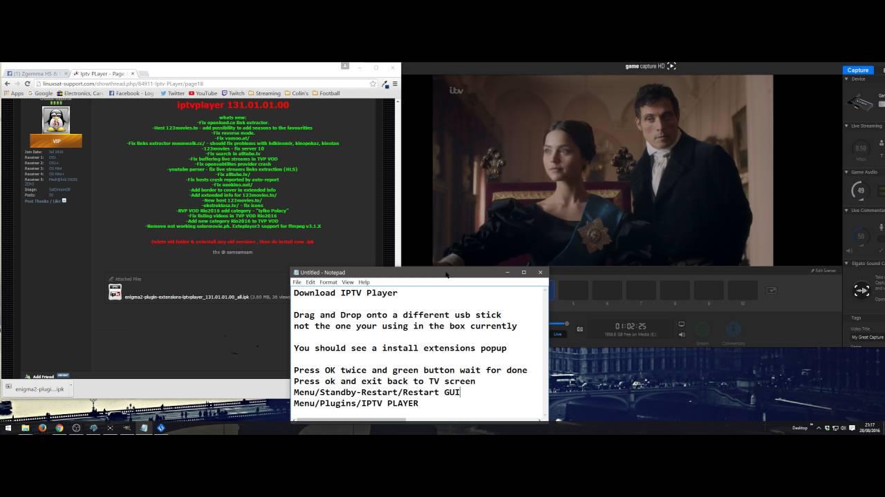 IPTV Player Addon Install Enigma2