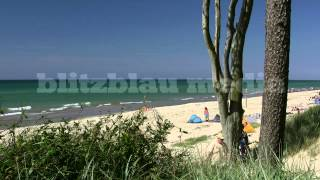 Stock Footage Europe Germany Baltic Sea Darß Mecklenburg-Vorpommern Beach Ostsee Strand Playa