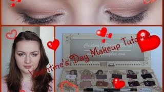 Valentine's Day Makeup Tutorial // theBalm Nude'tude Palette Thumbnail