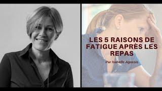 Les 5 raisons de fatigue après les repas