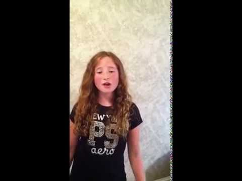 """9 year old Lauren Mask """"If I die young"""""""
